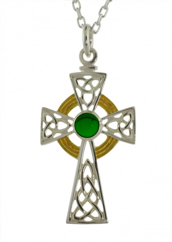 6027 sterling silver and gemstone cross