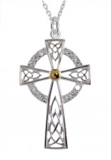 6030 Cross Pendant with White CZ's