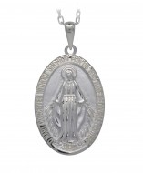 Silver Miraculous Medal 6053