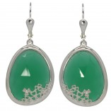 7196 Shamrock Green Onyx Earrings