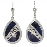 7195 Trinity Knot Earrings with Sodalite
