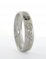 Gents Ogham Gra Mo Chroi Band - 1026