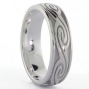 Silver Gents Celtic Wave Ring - 1022