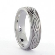 Silver Ladies Celtic Wave Ring - 1023
