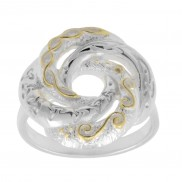 Celtic Swirl Love Knot Ring  1154