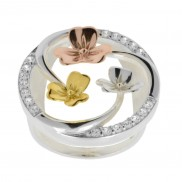 Shamrock Circle ring with Goldplated leaves  1165