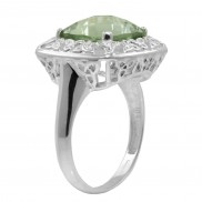 Green Amethyst and Trinity Lace Ring 1167