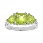 Peridot 3 stone Celtic Ring  1168
