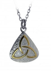Trinity knot pendant with gold plate - 2106