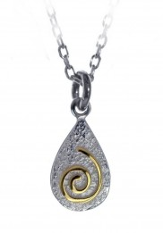 Spiral Pendant with gold plate - 2109