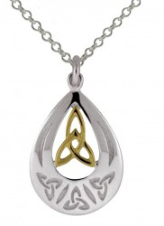 Silver and goldplate celtic pendant - 2112