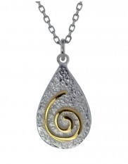 Spiral Pendant with gold plate - 2126
