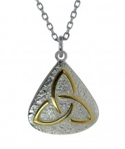 Trinity knot pendant with gold plate- 2127