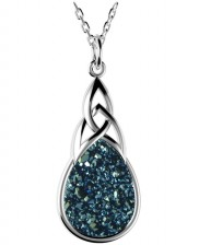 Sterling Silver Drusy Pendant - 2133
