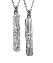 Ogham Friendship Double Sided Pendant - 2136