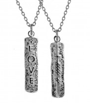 Ogham Love Double Sided Pendant - 2137
