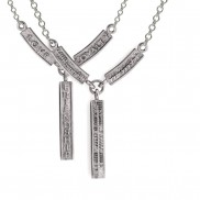 Ogham Love Loyalty Friendship Double Sided Pendant - 2145