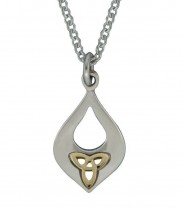 Celtic Knot Goldplate and Silver Pendant 2181