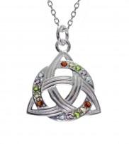 Silver Circle Trinity Pend Rainbow 12194