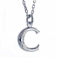 C Initial Book of Kells Inspired Pendant -2196