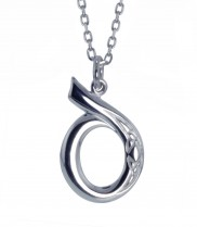 D Initial Book of Kells Inspired Pendant - 2196