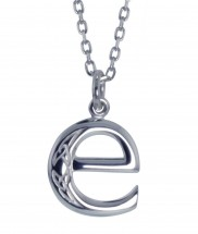 E Initial Book of Kells Inspired Pendant - 2196
