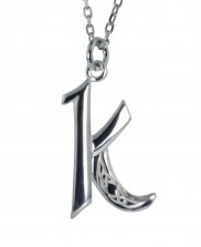 K Initial Book of Kells Inspired Pendant - 2196