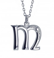 M Initial Book of Kells Inspired Pendant - 2196