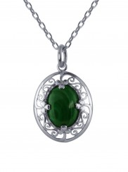 Malachite Stone Celtic Pendant- 2228
