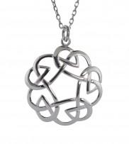 Celtic Knot Open Weave Pendant - 2276