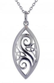 Celtic and Spiral Marquise Pendant - 2278