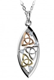 Tri Colour Trinity Knot Pendant - 2294
