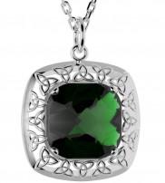 2524 Silver Celtic Knot Quartz Doublet Pendant