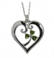 Sparkling Peridot Heart Pendant 2130a