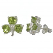 Shamrock Peridot Stud Earrings - 5142