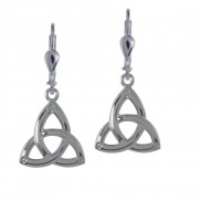 7019 Simple trinity knot earrings