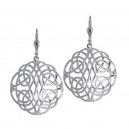 7060 Large Intricate Celtic Weave Earrings