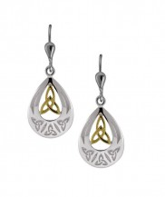 7069 Sterling Silver and gold plate Celtic Knot Earrings