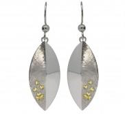 Sterling Silver Shamrock Shield Earrings - 7072