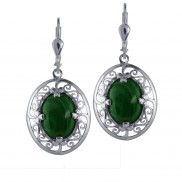 7103 Malachite Shamrock Earrings