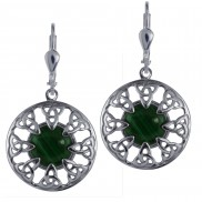 7104 Malachite Trinity Knot Earrings
