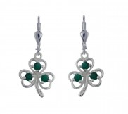 7106 Shamrock and Green Agate Earrings