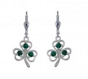 7106 Shamrock and Green Agate Earrings