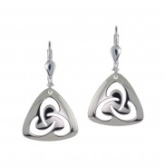 7126 Open trinity knot earrings
