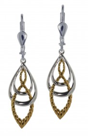 7130 Celtic knot and Goldtone Rope Effect Earrings