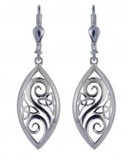 7135 Trinity and Spiral Marquise Earrings