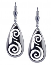 7136 Open Work Spiral Earrings