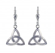 7143 Ridged trinity knot drop earrings