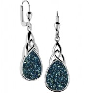 7152 Trinity Knot Drusy Earrings