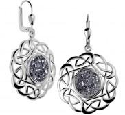 7153 Trinity Knot Drusy Earrings